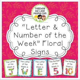 Letter And Number Of The Week Signs For Preschool And